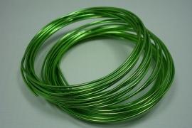 5726 ] Alluminiumdraad 1 mm. Licht Groen, 5 meter