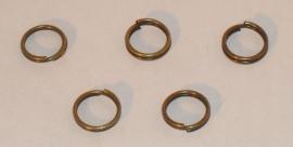 (5151) Splitring 6 mm brons. 30 stuks.