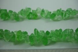 [ 6563 ] Glas Split kraal Licht Groen, streng 92 cm.