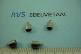 [ 8378 ] RVS,  Eindkapje voor 3 mm. inw., per 4 stuks