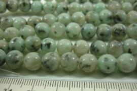 [ 8624 ] Kiwi Jaspis  8 mm.  per streng 39 cm.