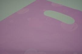 [ 8244 ] Tas 25 x20 cm. Roze met Hartjes, 100 stuks