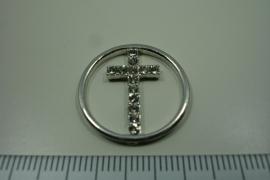 [ 8281 ] Kruis met zirkonia, per stuk