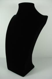 *[9039 ] Hals Luxe Zwart Fluweel, Groot 34 cm.