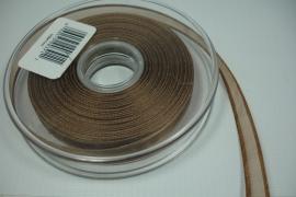 [8090 ] Organza lint 7 mm. Bruin, per meter