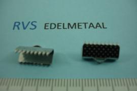 [ 8431 ]  RVS,  Lintklem 13 mm. per 6 stuks