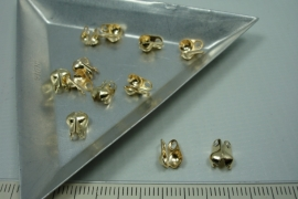 [ 5847 ] Kalotje zijklap 4 mm. Licht Goudkleur, 12 stuks