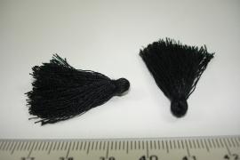 [ 6597 ] Kwastjes 3 cm. Zwart, per 4 stuks
