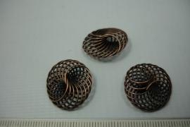 [5532 ] Draad kraal 20 mm. Koper kleur, per stuk