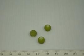 [0360 ] Glas kraal met rubber 8 mm. Groen