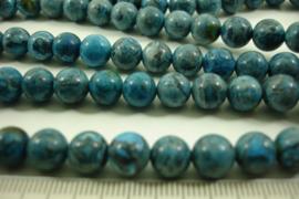 [ 8632 ]Blauwe Tijgeroog  8 mm.  per streng 39 cm.