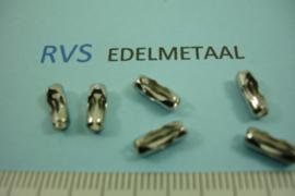 [ 8375 ] RVS,  Connector sluiting  voor Balketting 1.5 mm., per 10 stuks