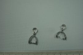 [0470 ] Hanger klem 12 mm.  Zilverkleur, per stuk