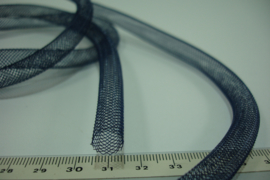 [ 5011-A ] Open Tube koord 8 mm. Donker Blauw, 1 meter