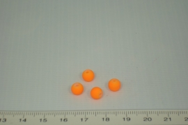 [0361 ] Glas kraal met rubber 6 mm. Oranje