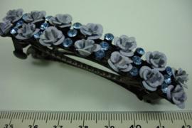 *[ 6894 ] Haarspeld Roosjes van Lavendel 8.5 cm. per stuk