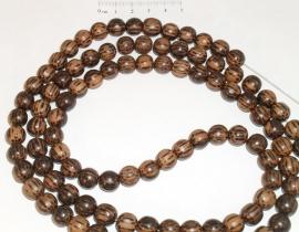 (5031) Kralenstreng hout palmhout 8 mm. 1 meter