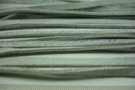 [ 6381 ] Plat Suede Veter 5 mm. Grijs, per meter