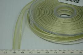 [8086 ] Organza lint  Grijs/Groen  per Meter