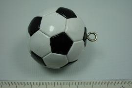 *[ 5642 ] Voetbal Wit Zwart, 40 mm.