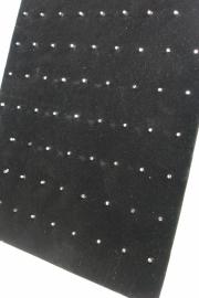*[ 9155 ] Piercing Bord, Zwart Fluweel 23 x 30 cm.