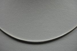 [ 6280 ] Gladde Ketting 62 cm. Verzilverd, per stuk