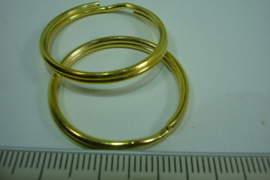 [ 6394-A ] Splitring 30 mm. Goud kleur, 5 stuks
