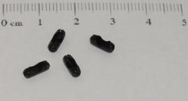 (0160) Slotje balletjes ketting 2 mm zwart.