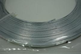 [ 8210 ] 3.5 mm. breed plat Aluminium, 10 meter