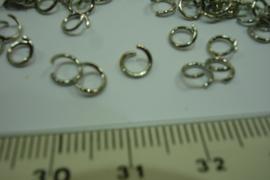 +[ 5133 ] Actie: Ring open 5 mm chroom. 2000 stuks.