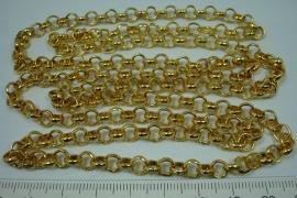 [0652 ] Jasseron 5.8 mm. Goudkleur, 1 meter