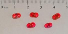 (5185) Duo rocailles rood ab nr. 101. 50 stuks.