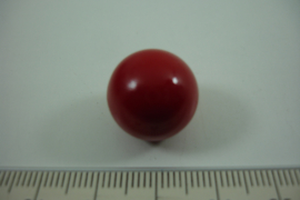 [ 0917 ] Klank bal 16 mm.donker  Rood.