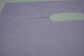 *[ 8236 ] Tas 40 x 30 cm. Paars met bloem, 100 stuks