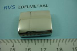 [ 8421 ] RVS,  Magneet slot  18.5 x 4 mm. inw.  per stuk