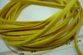 [ 6025 ] Suede veter 3 mm. Oker Geel, 5 meter