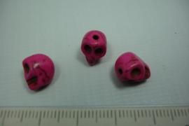 [ 0747 ] Doodshoofd10 mm. Donker Roze, per stuk
