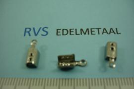 [ 8384 ] RVS,  Veter klemmetje 2.5 mm. inw.  per 15 stuks
