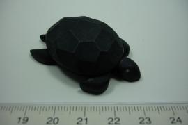 [ L.0001 ] Schildpad 50 x 33 17 mm. Bruin, per stuk