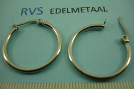 [ 8413 ] RVS  Oor Creool 25 mm. per paar