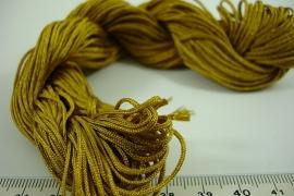 [ 6348 ] Satijnkoord 1 mm. Oker Geel, 25 meter