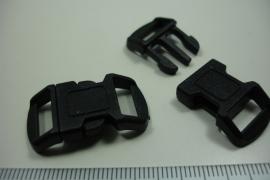 [ 6309 ] Inklik slot Kunsstof Zwart, 30 x 15 mm. per stuk