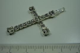 [ 0837 ] Kruis 42 x 28 mm. met Zirkonia, per stuk