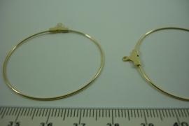 [ 6546 ] Creool aanhang 40 mm. Goudkleur, 4 stuks