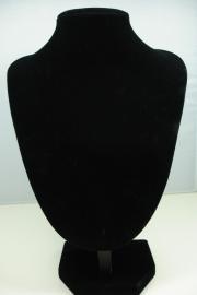 *[ 9103 ] Hals Punt Fluweel, Klein 25 cm.