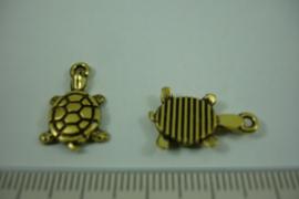 [ 1233 ] Schildpad  19 x 12.3 mm.  Goudkleur, per stuk