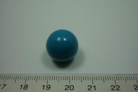 [ 0927 ] Klank bal 16 mm. Turquoise.