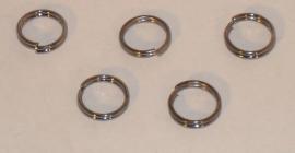 (5150) Splitring 8 mm antraciet. 25 stuks.