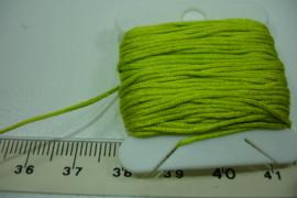 [ 5666-A ] Nylon draad 0.8 mm. Groen/Geel, 10 meter