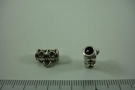 [ 1313 ] Tussen kraal 11.6 mm. breed met 1 oog, Oud Zilver, per stuk
